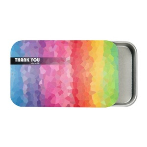 Thank You Color my Life。Metal Slide Top Tin