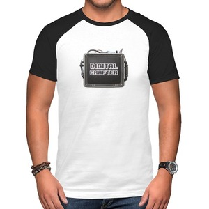 Digital Crafter-The TV Raglan T-Shirt