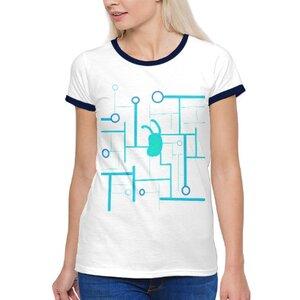 future( •̀ ω •́ )✧女裝棉質彩邊圓領T恤