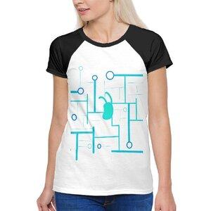 future( •̀ ω •́ )✧女裝棉質插肩圓領T恤