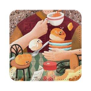 茶餐廳奇遇 ♥ 方形皮杯墊