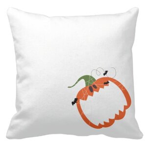 pumpkin smile  16x16吋細毛絨抱枕