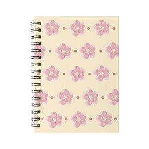 粉紅小花 線圈筆記本(小)