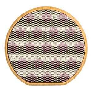 粉紅小花 木紋藍牙揚聲器