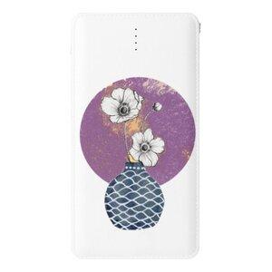 銀蓮花anemone flower 10000mAh 皮紋行動電源
