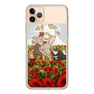 罌粟花開 內有柴犬  iPhone 11 Pro Max 透明殼