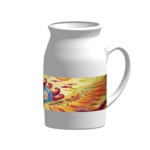 陶瓷牛奶杯, 16oz