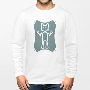 Cool Cat Warrior男裝棉質圓領長袖T恤