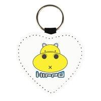胖小河HIPPO!心形皮鑰匙圈
