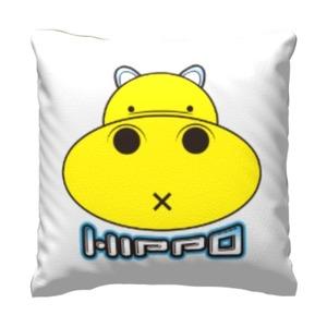 胖小河HIPPO! 16x16吋細毛絨抱枕