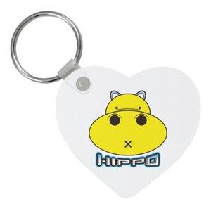 胖小河HIPPO!心形鑰匙圈