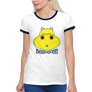胖小河HIPPO!女裝棉質彩邊圓領T恤