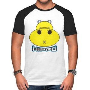 胖小河HIPPO!男裝棉質插肩圓領T恤