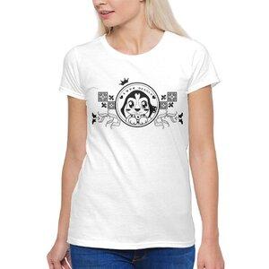 聖誕米格魯女裝棉質圓領T恤