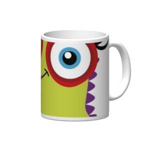 怪物 陶瓷杯, 12oz