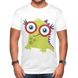 怪物 男裝棉質圓領T恤