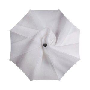 柔软白色棉布三折伞