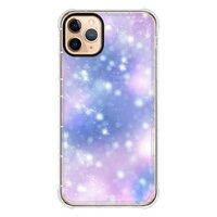 Dreamy brilliance (blue-purple)iPhone 11 Pro Max 透明防撞殼(黑邊鏡頭)