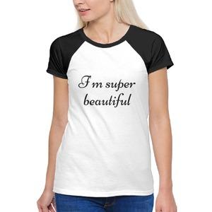女裝棉質插肩圓領T恤