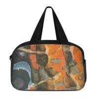 抽象艺术手提旅行包