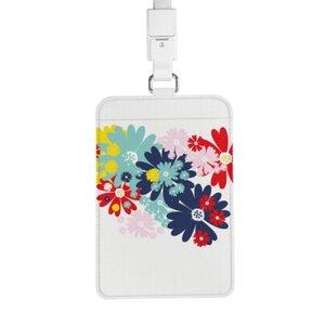 chic floral season 證件套連頸繩