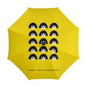 獨立思考的小女孩自動開收摺疊傘