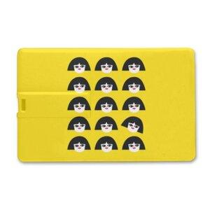 獨立思考的小女孩卡片形USB