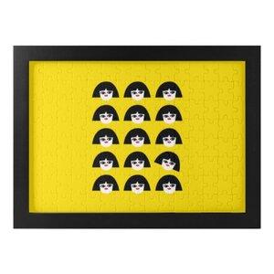獨立思考的小女孩拼圖連相框 (120塊)