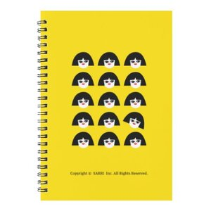 獨立思考的小女孩線圈筆記本(大)