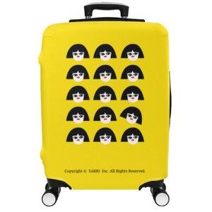 獨立思考的小女孩28吋行李箱保護套