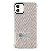 比熊犬的慵懶午後  Bichon's cozy lazy herringboneiPhone 11 透明防撞殼(黑邊鏡頭)