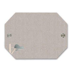 比熊犬的慵懶午後  Bichon's cozy lazy herringbone八角形門牌