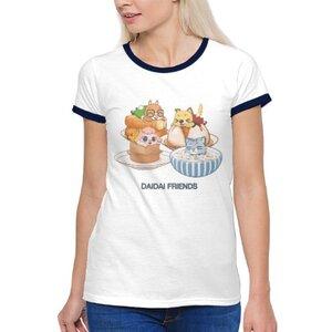台灣好料理 女裝棉質彩邊圓領T恤