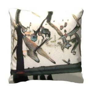 抽象艺术 16x16吋细毛绒抱枕