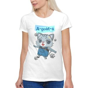 阿月仔 A-goa̍t-á女裝棉質圓領T恤