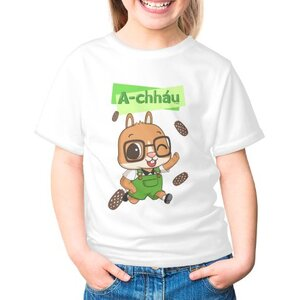 阿草 A-chháu女童棉質圓領T恤