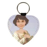 個人肖像訂製產品 心形皮匙扣