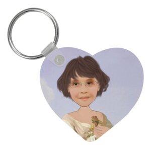 個人肖像訂製產品 心形匙扣