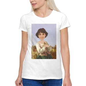 個人肖像訂製產品 女裝棉質圓領 T 恤