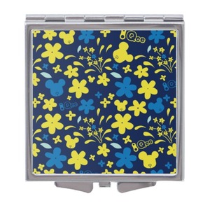 Qee Flower Print 2020 Square Compact Mirror-Middle