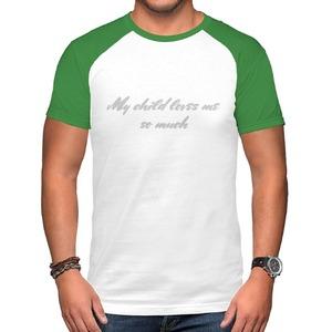 男裝棉質插肩圓領T恤