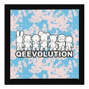 "Qeevolution 2021 Painting Canvas Wall Art Print 7"" x 7"""