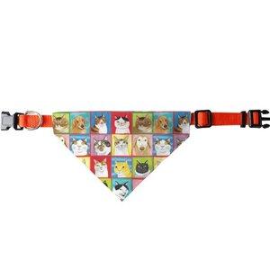 百貓圖三角寵物頭圍巾 (大)A