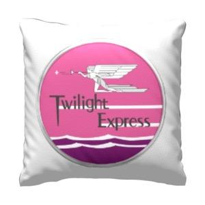 Twilight Express 16x16吋細毛絨抱枕