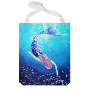 mermaid 特大帆布单肩袋