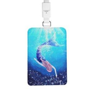 mermaid 证件套连颈绳