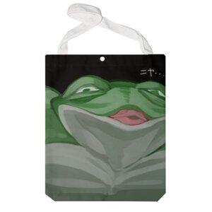 青蛙 特大帆布單肩袋