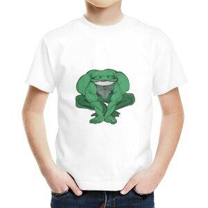 青蛙男童棉質圓領T恤