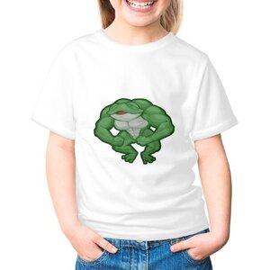 青蛙女童棉質圓領T恤