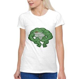 青蛙女裝棉質圓領T恤